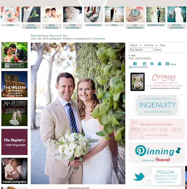 Featured on Ceremony Blog!