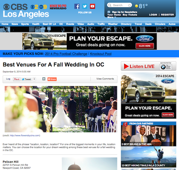 Featured on  CBSLA.com!