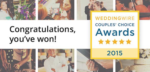 WeddingWire Couples' Choice Awards Winner!