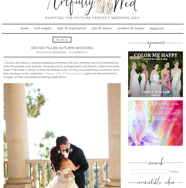 Featured on Artfully Wed!