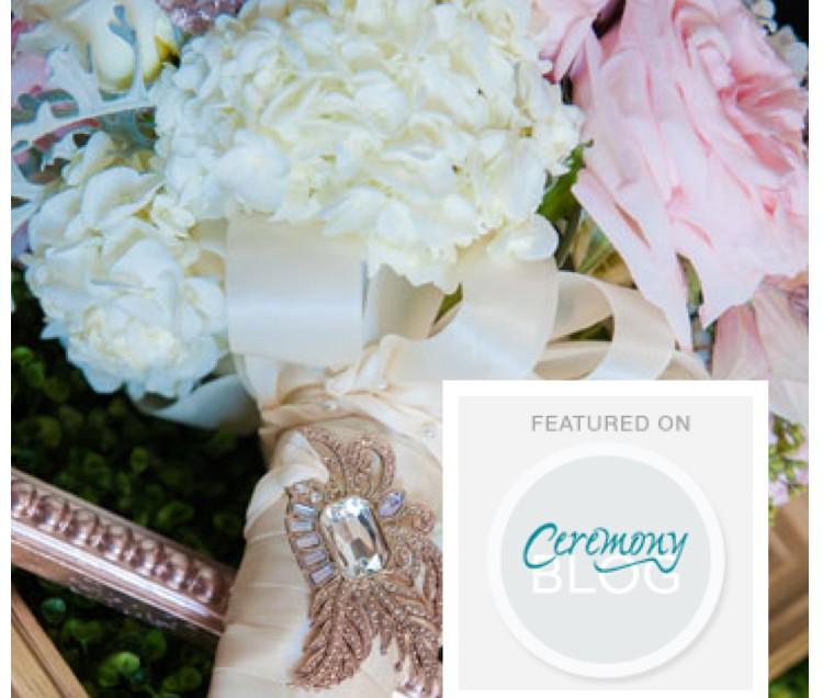 Bridal Bouquet Featured on Ceremony Magazine Blog!