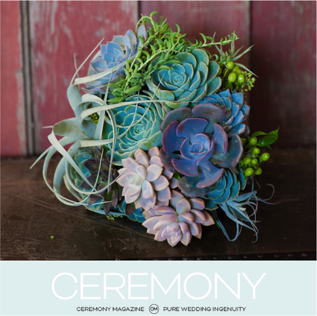 Featured in Ceremony Magazine OC | Bouquet Inspiration
