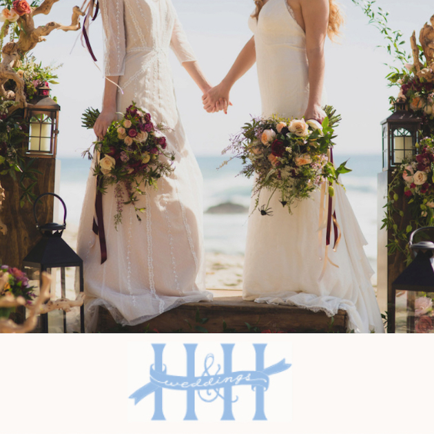 Flowers by Cina Featured on H&H Weddings