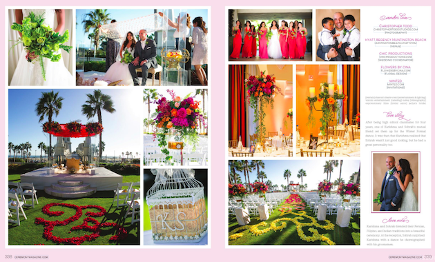 Featured in Ceremony Magazine | Karishma + Sohrab