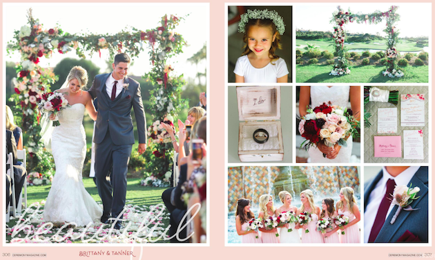 Featured in Ceremony Magazine OC | Brittany + Tanner