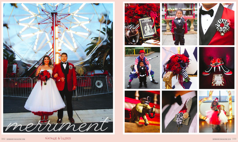 Circus-Themed Wedding Featured in Ceremony Magazine and  California Wedding Day!