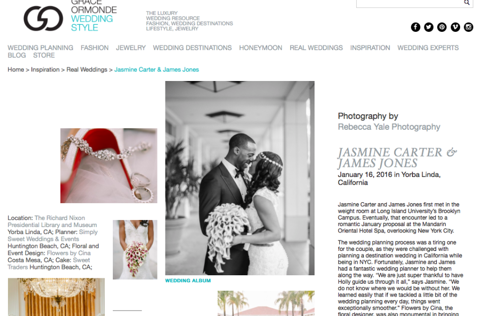 Featured on Grace Ormonde Wedding Style Magazine!