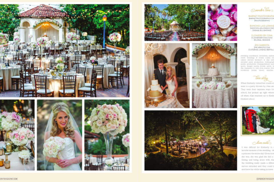 Blush Wedding Featured in Ceremony Magazine OC