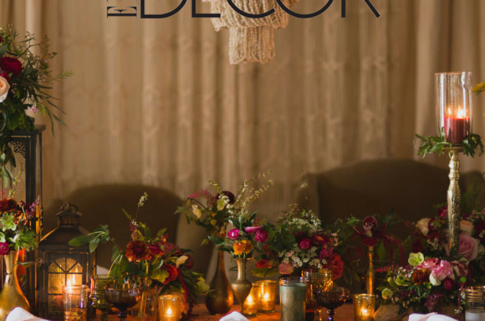Romantic Boho Tablescape Featured on Elle Decor