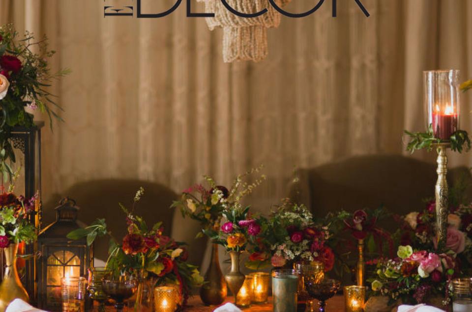 Romantic Boho Tablescape Featured on Elle Decor
