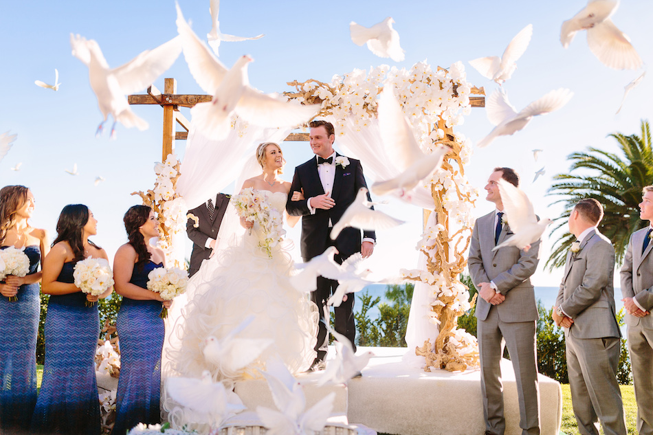 Bel Air Bay Club Wedding Featured on Inside Weddings