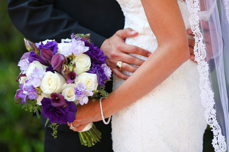 Bold Purple Jonathan Club Wedding