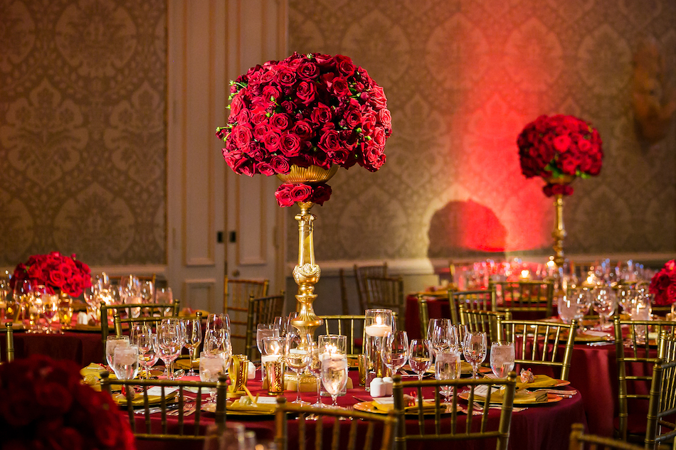 Romantic Red Wedding Featured on Inside Weddings