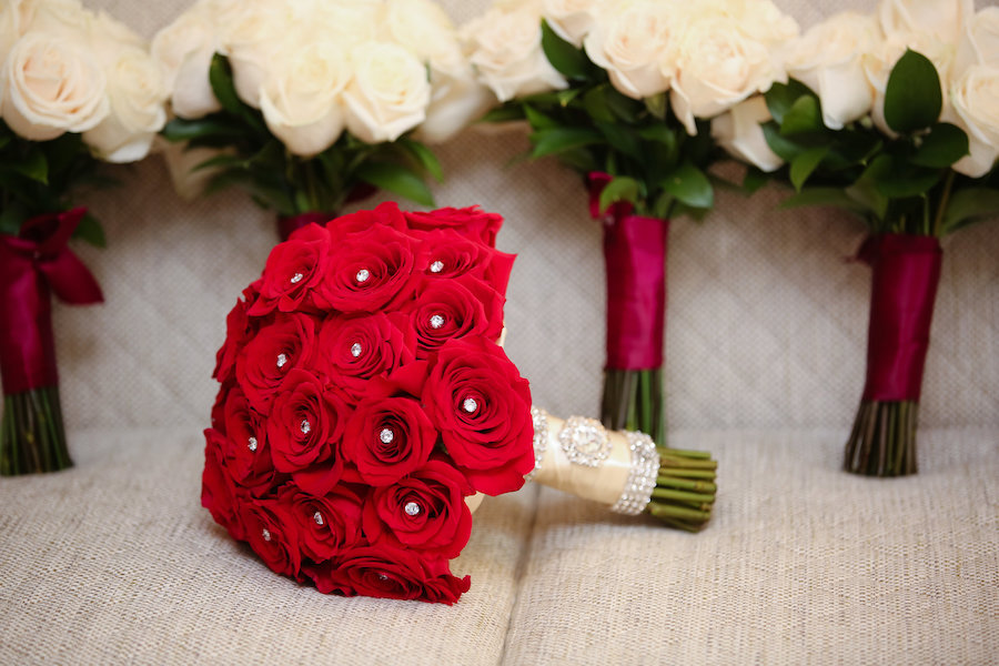 Red Rose Filled Valentine S Day Wedding Featured On Strictly