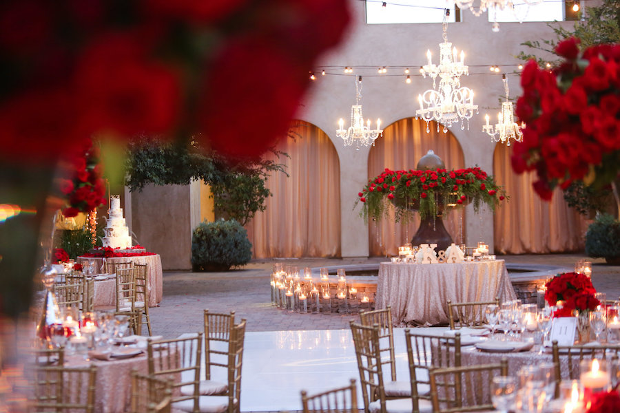 Red Rose Filled Valentine's Day Wedding Featured on Strictly Weddings