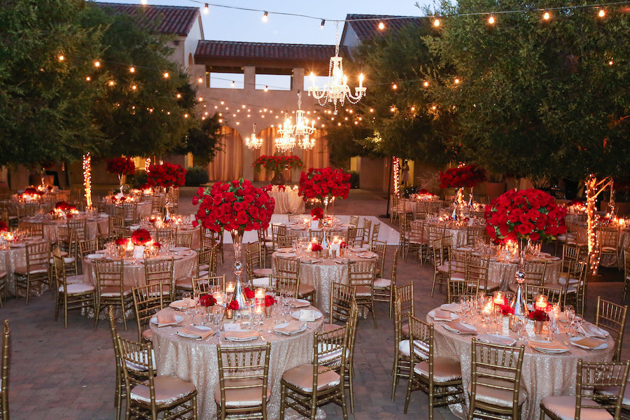 red rose filled valentines day wedding featured on