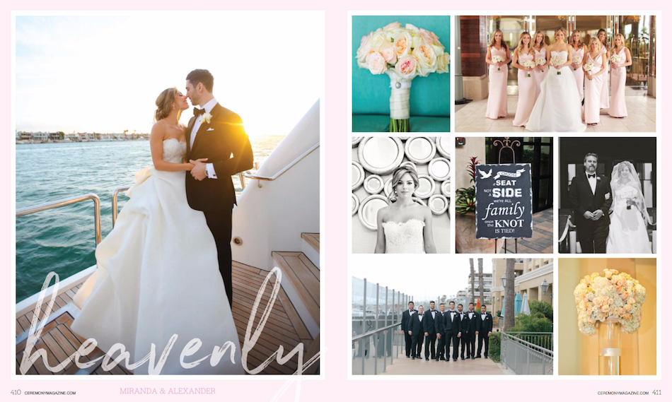 Blush Balboa Bay Resort Wedding Featured in Ceremony Magazine