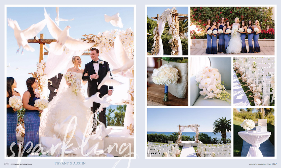 Bel Air Bay Club Wedding Featured in Ceremony Magazine