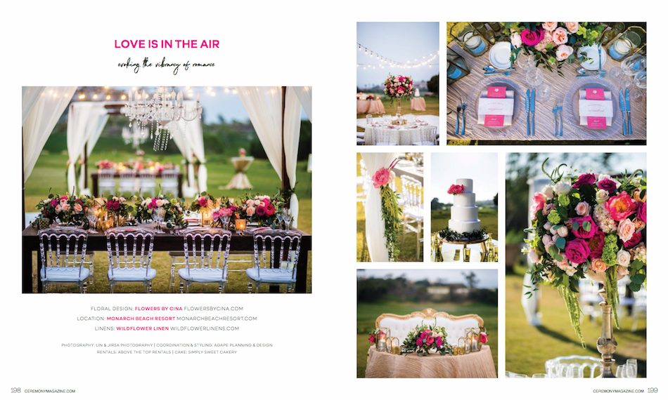 Springtime Wedding Inspiration featured in Ceremony Magazine