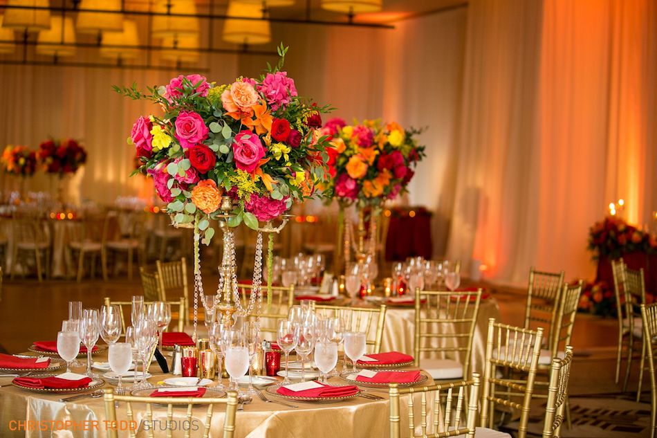 Colorful Pink and Orange Terranea Wedding