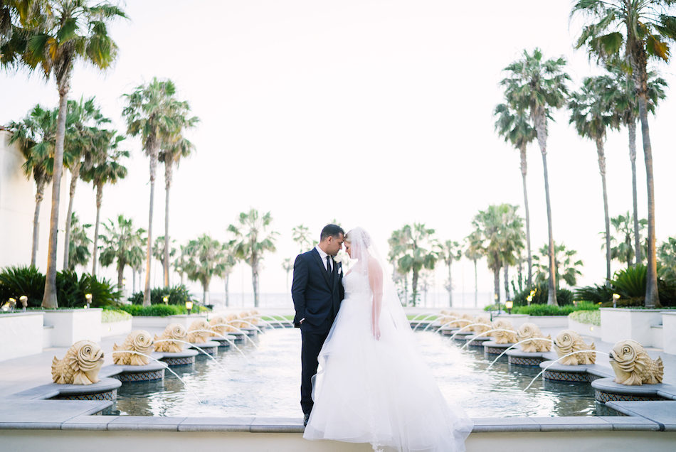 White and Gold Hyatt Huntington Beach Wedding