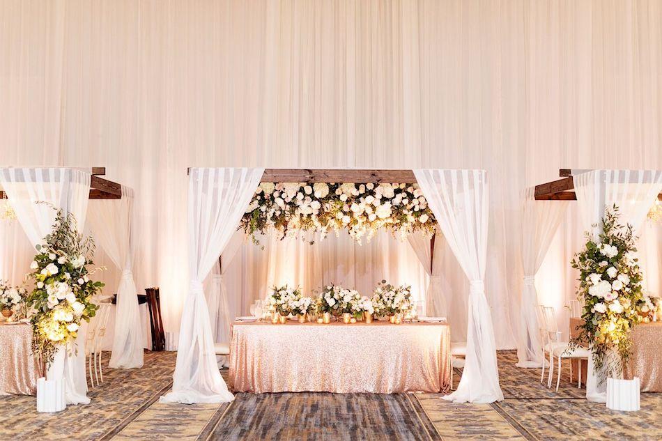 cabanas, draping, wedding flowers, elegant white, white wedding, wedding, reception, wedding design, flowers by cina