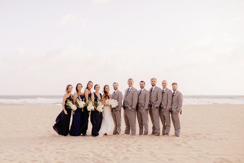Wedding Party Beach Navy And White