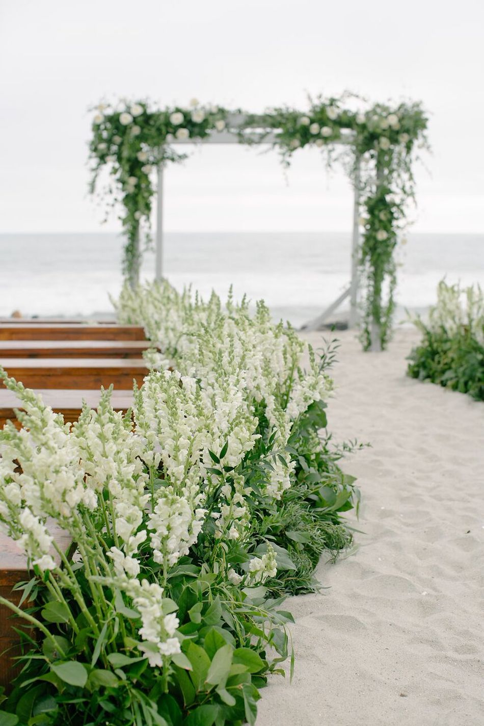 beach wedding, wedding flowers, ocean side, ocean side wedding, wedding, wedding ceremony, flowers by cina