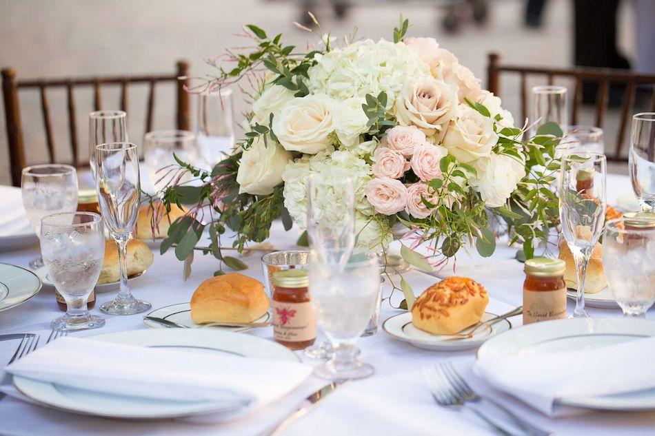 table design, table decor, centerpieces, wedding flower, romantic blush, blush wedding, tabletop, serra plaza, wedding florist
