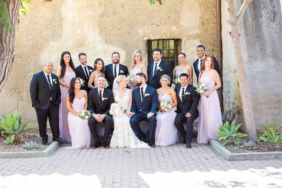 wedding party, blush wedding, romantic blush, serra plaza, wedding, wedding flowers, flowers by cina