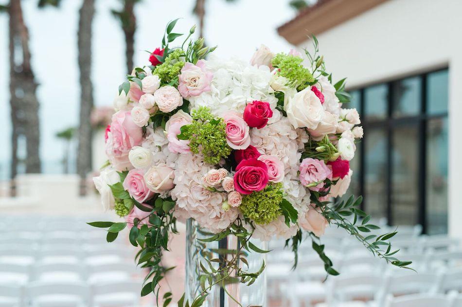 wedding flowers, pink, romantic pink, wedding, ceremony, wedding ceremony