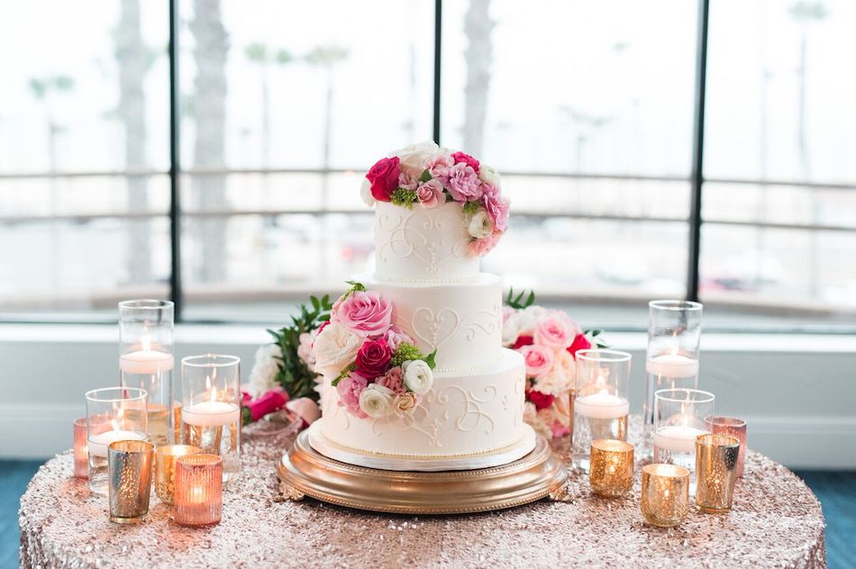 wedding cake, pink, romantic pink, wedding flowers, flowers by cina
