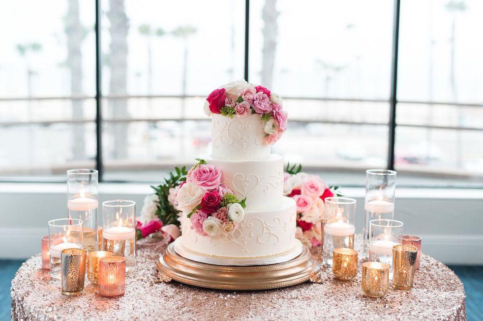 wedding cake, pink, romantic pink, wedding flowers, flowers by cina