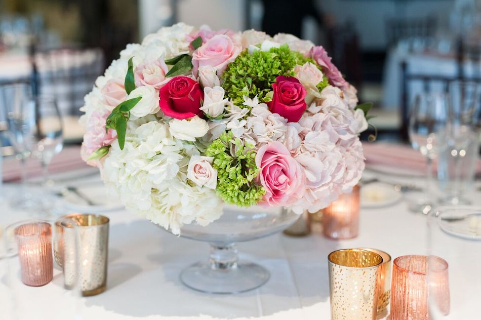 romantic pink, pink flowers, wedding, wedding flowers, flowers by cina, centerpieces, wedding reception