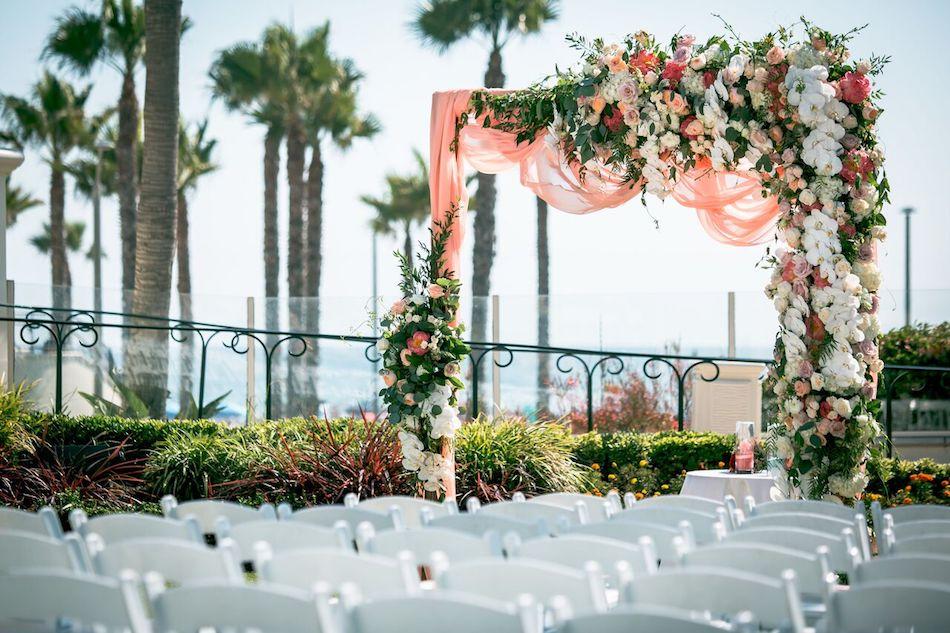 wedding ceremony, wedding flowers, beautiful blush, wedding, flowers, flowers by cina