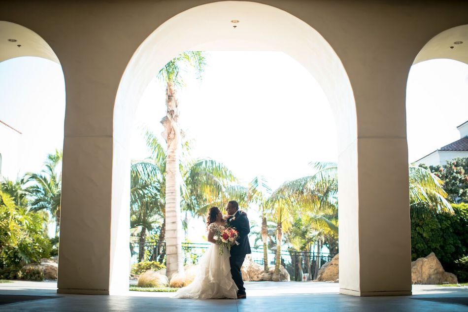 newlyweds, bride, groom, beautiful blush, flowers by cina
