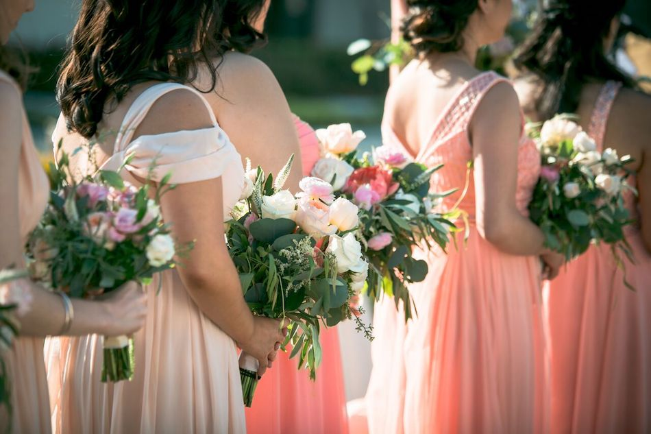 bouquets, wedding flowers, beautiful blush, wedding, flowers by cina, florist