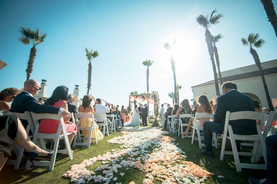 wedding ceremony, ceremony, wedding flowers, florist, flowers by cina, beautiful blush