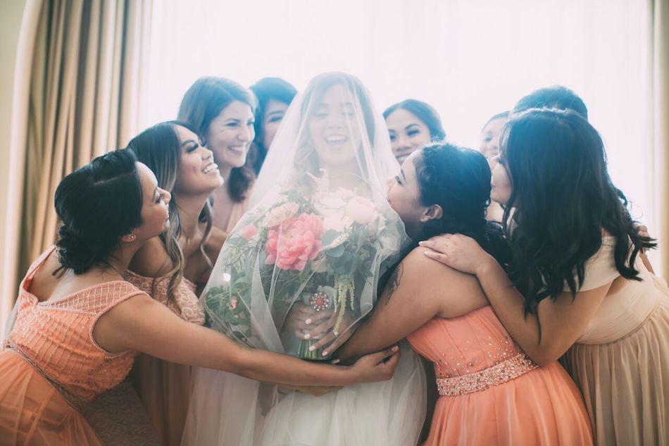 bridal party, bride, wedding flowers, blush, beautiful blush, wedding, flowers by cina