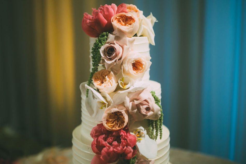 wedding cake, cake, flowers, beautiful blush, florist