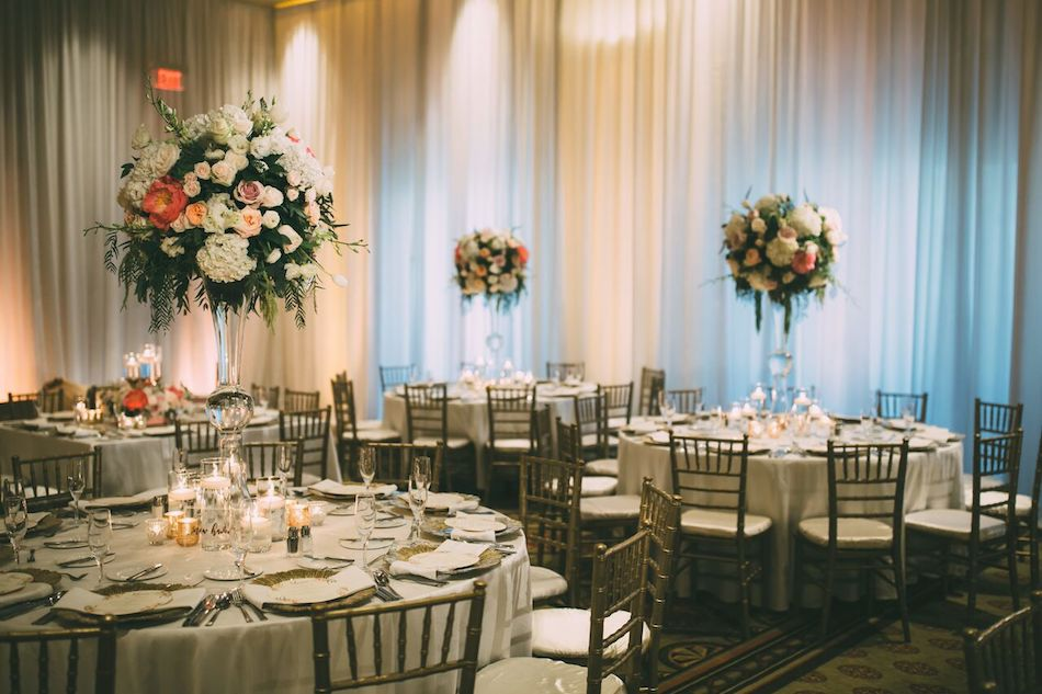 wedding, centerpieces, flowers, florist, beautiful blush, flowers by cina