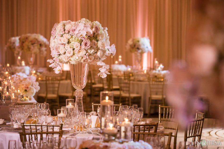 centerpiece, wedding reception, monarch beach resort, flowers by cina, glowing wedding, glowing, orange county florist, orange county floral design