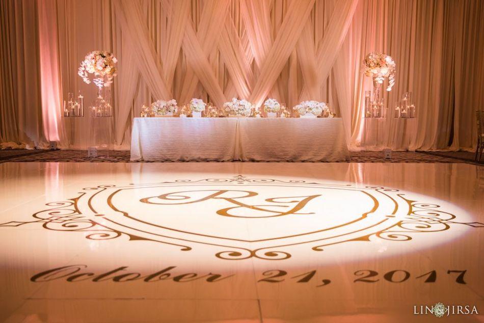 monarch beach resort, wedding reception, dance floor, orange county florist, wedding flowers, flowers by cina