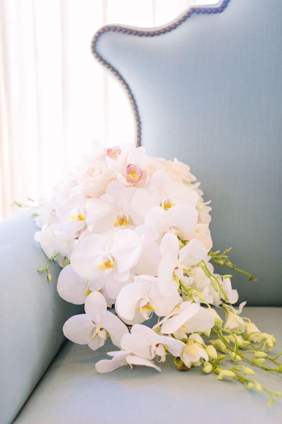 wedding bouquet, bouquet, wedding flowers, wedding florist, all white wedding, bel air bay club, flowers by cina