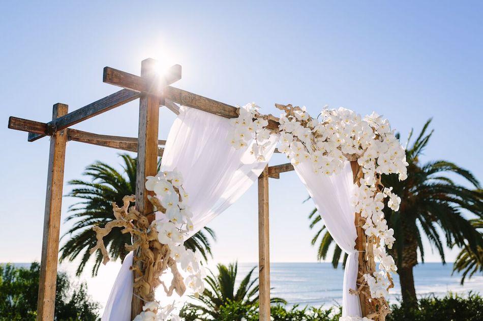 white flowers, beach wedding, bel air bay club, flowers by cina, all white wedding, wedding flowers, orange county florist
