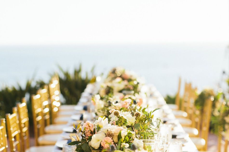 centerpieces, ivory and gold, wedding flowers, wedding reception, flowers by cina, orange county florist, ritz carlton laguna niguel