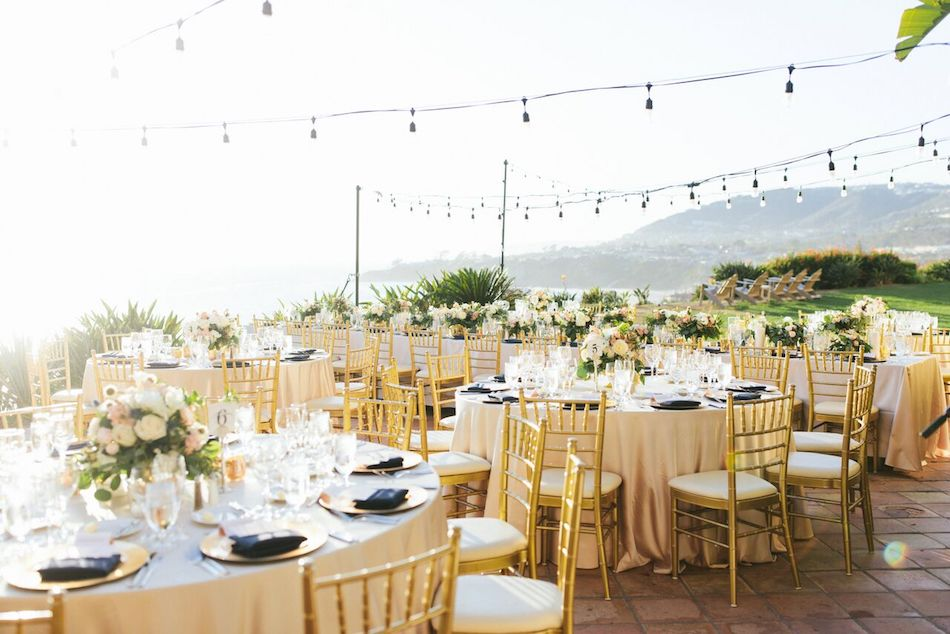 wedding reception, ivory and gold, wedding flowers, flowers by cina, orange county florist