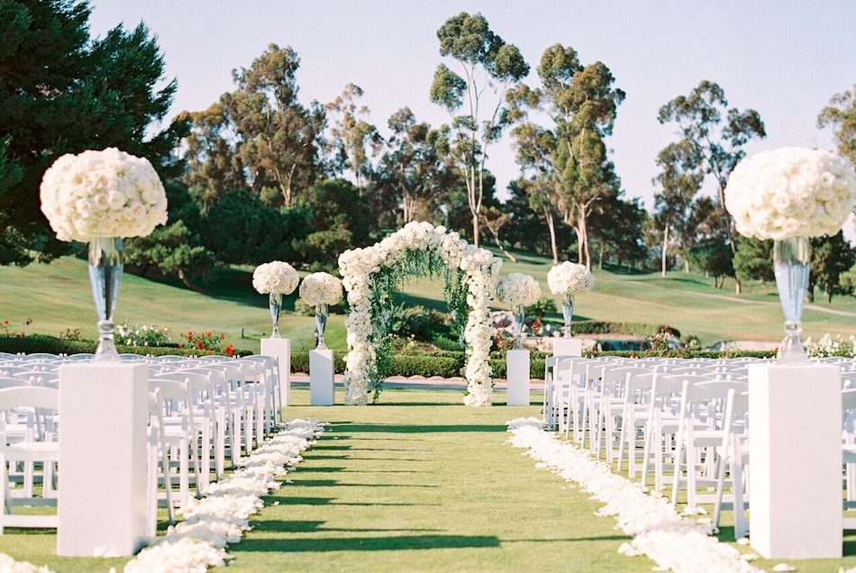 Dreamy White Marbella Country Club Wedding