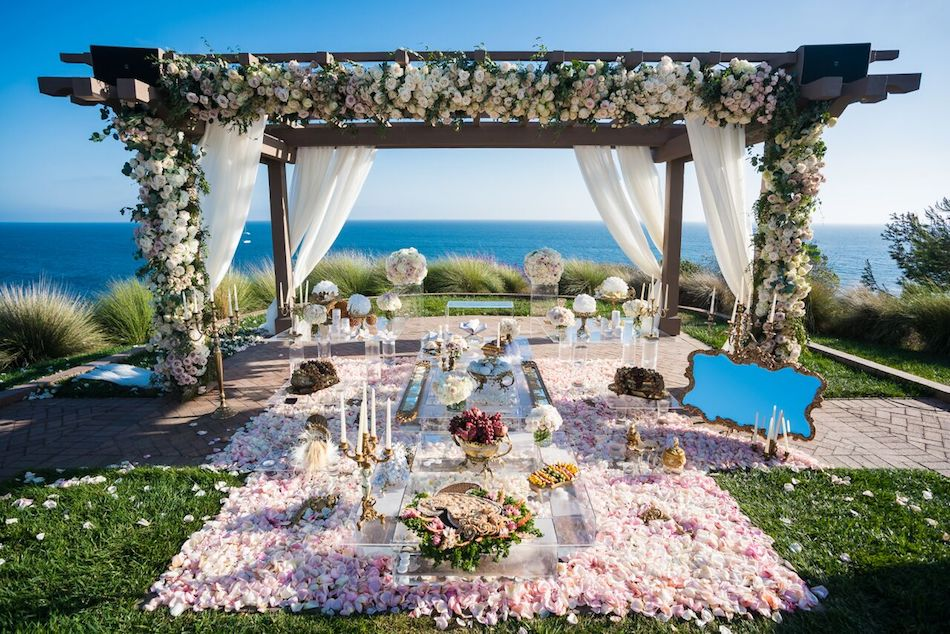Blush and Gold Terranea Resort Wedding