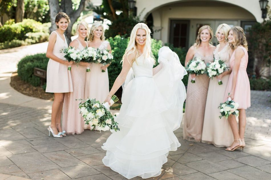 bride, bridesmaids, wedding party, blush, navy and white, bacara resort, santa barbara wedding, orange county wedding, orange county florist, wedding florist, flowers by cina, wedding flowers, floral design, orange county floral design